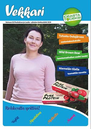 Kansikuva painetusta Vekkari-lehdestä, joka on julkaistu syksyllä 2019.