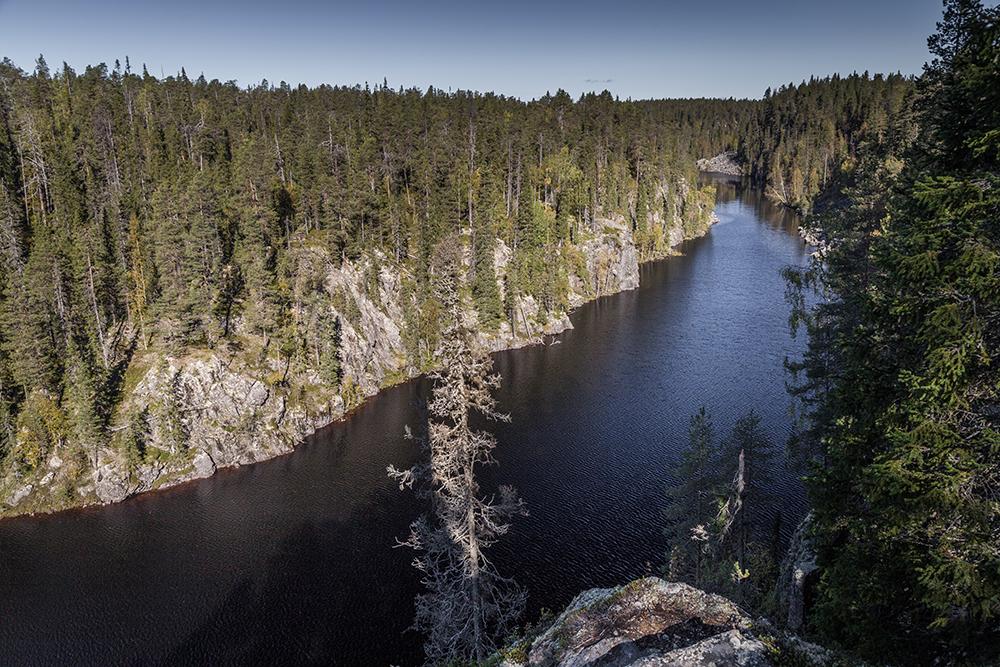 Julma-Ölkyn kanjoni Hossan kansallispuiston alueella.